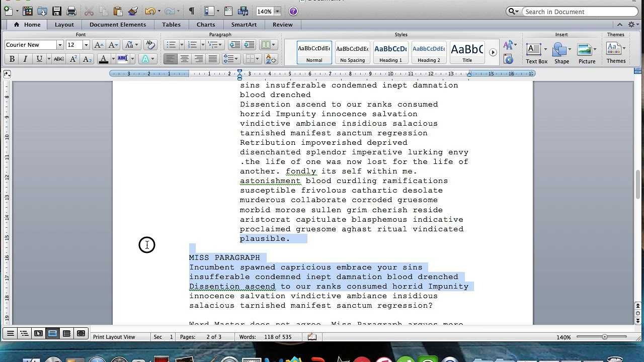 Microsoft Word Screenplay Formatting Tips Within Microsoft Word Screenplay Template