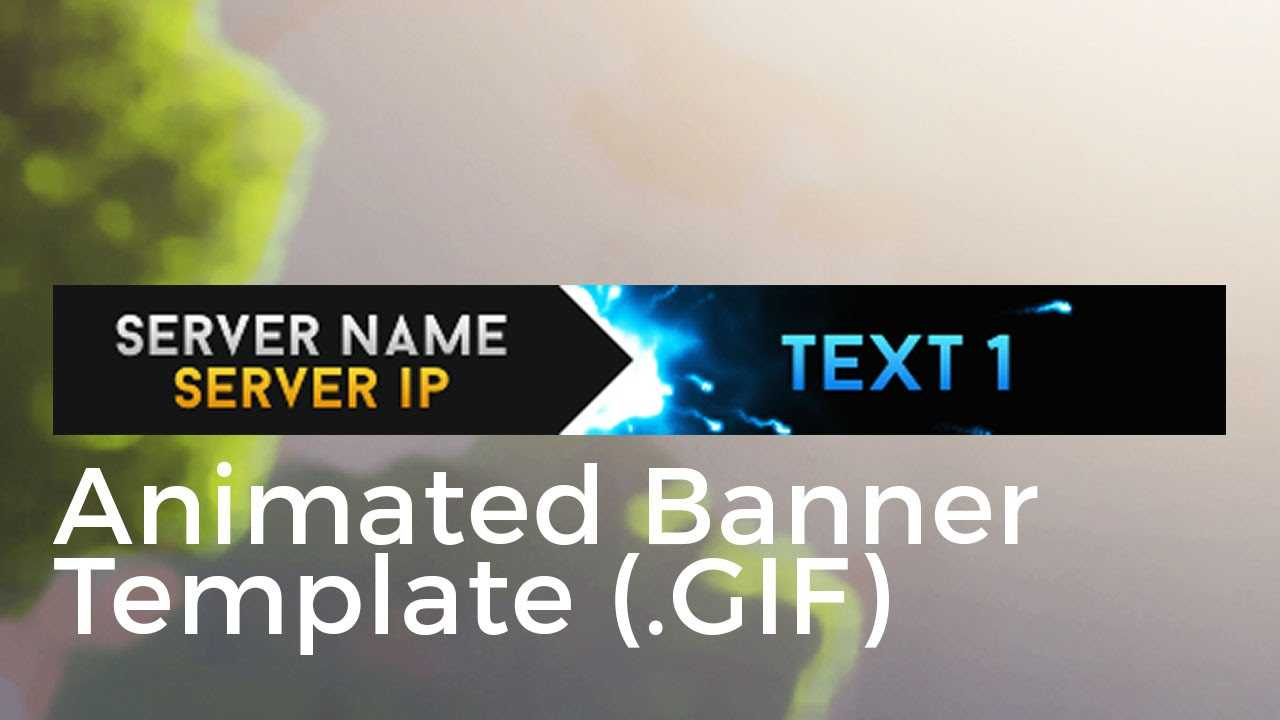 """Minecraft Animated Server Banner Template """"super Dazzle"""" With Animated Banner Template"""