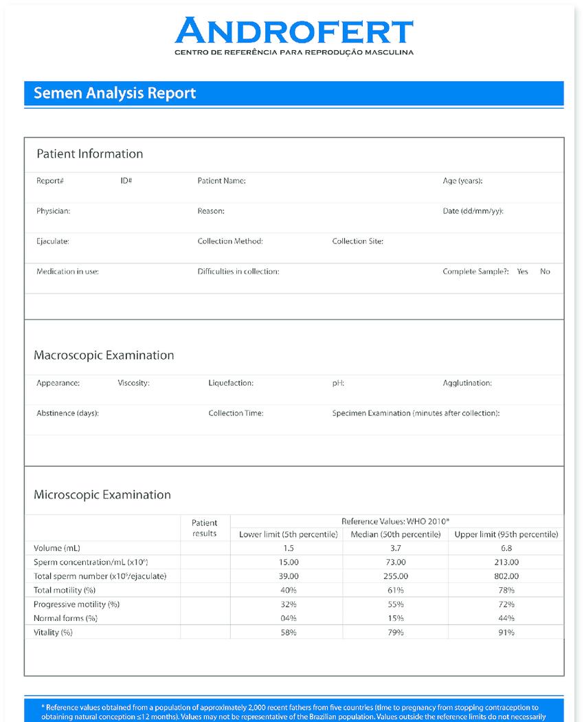 Modifi Ed Semen Analysis Report Template. The Main Inside Report Specification Template