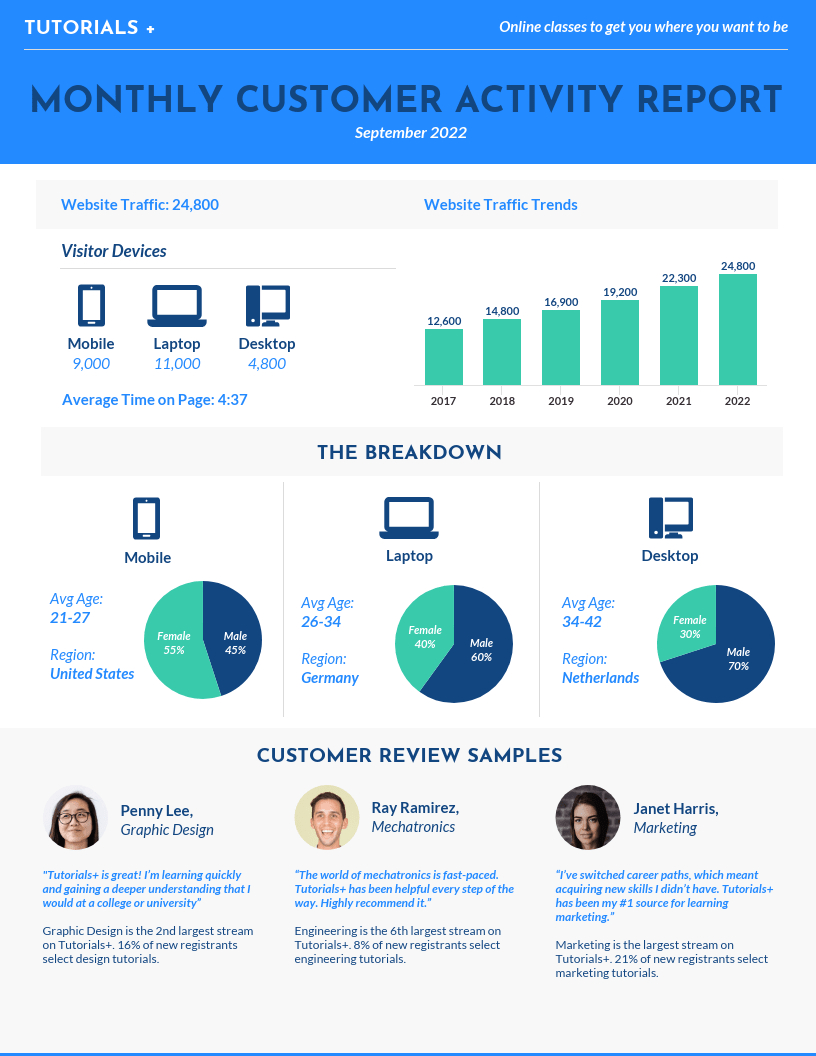 Monthly Consumer Activity Report Template Intended For Monthly Activity Report Template