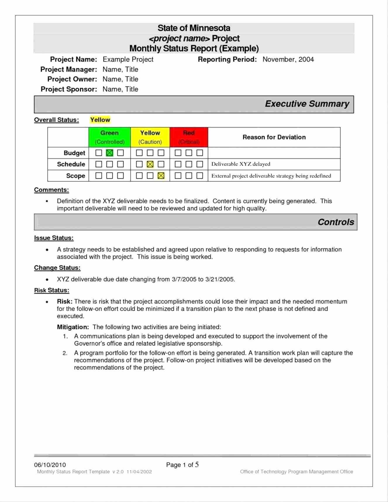 Monthly Status Report Template Word - Karati.ald2014 Within Project Status Report Template Word 2010