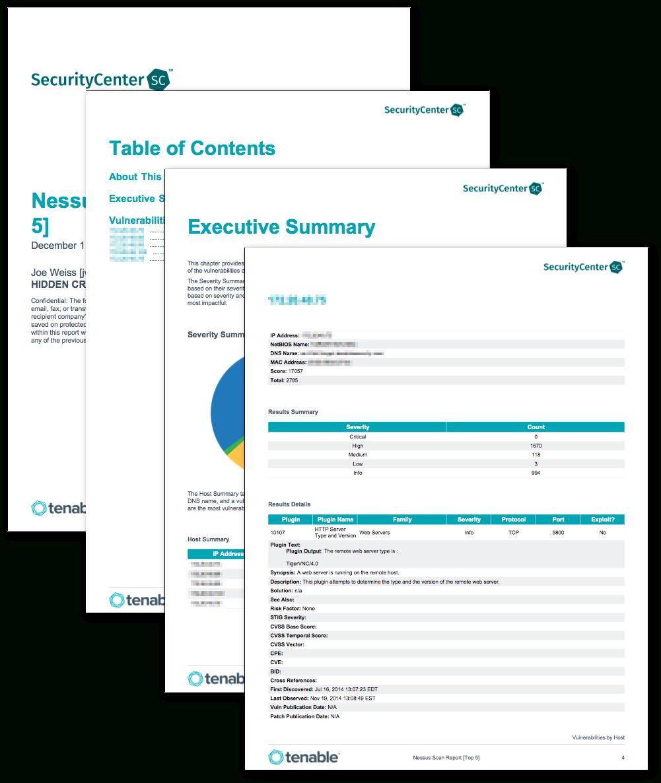 Nessus Scan Report (Top 5) - Sc Report Template | Tenable® Regarding Nessus Report Templates