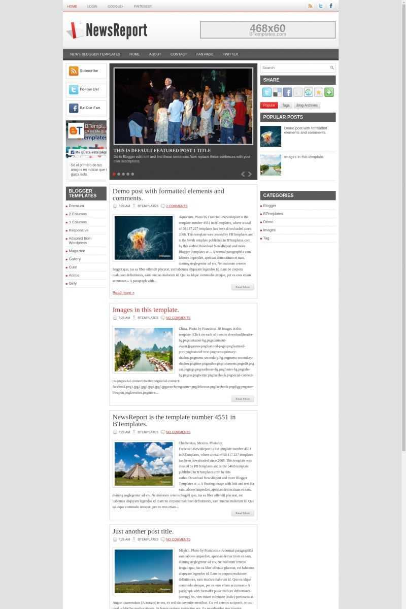 Newsreport Blogger Template – Btemplates Inside News Report Template
