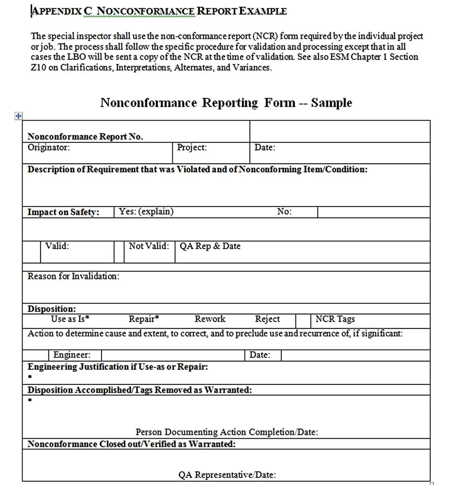 Non Conformance Report Template   Welding Rodeo Designer Inside Non Conformance Report Form Template