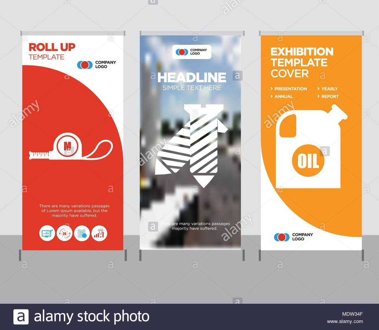 Oil Container Modern Business Roll Up Banner Design Template Pertaining To Tie Banner Template