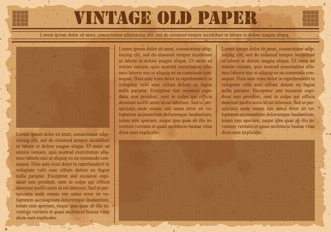 Old Vintage Newspaper - Download Free Vectors, Clipart Pertaining To Old Blank Newspaper Template