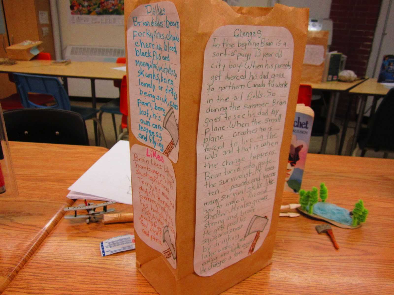 Paper Bag Characterization   Runde's Room Within Paper Bag Book Report Template