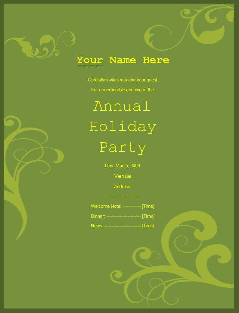 Party Invitation Templates | Free Printable Word Templates, With Free Dinner Invitation Templates For Word