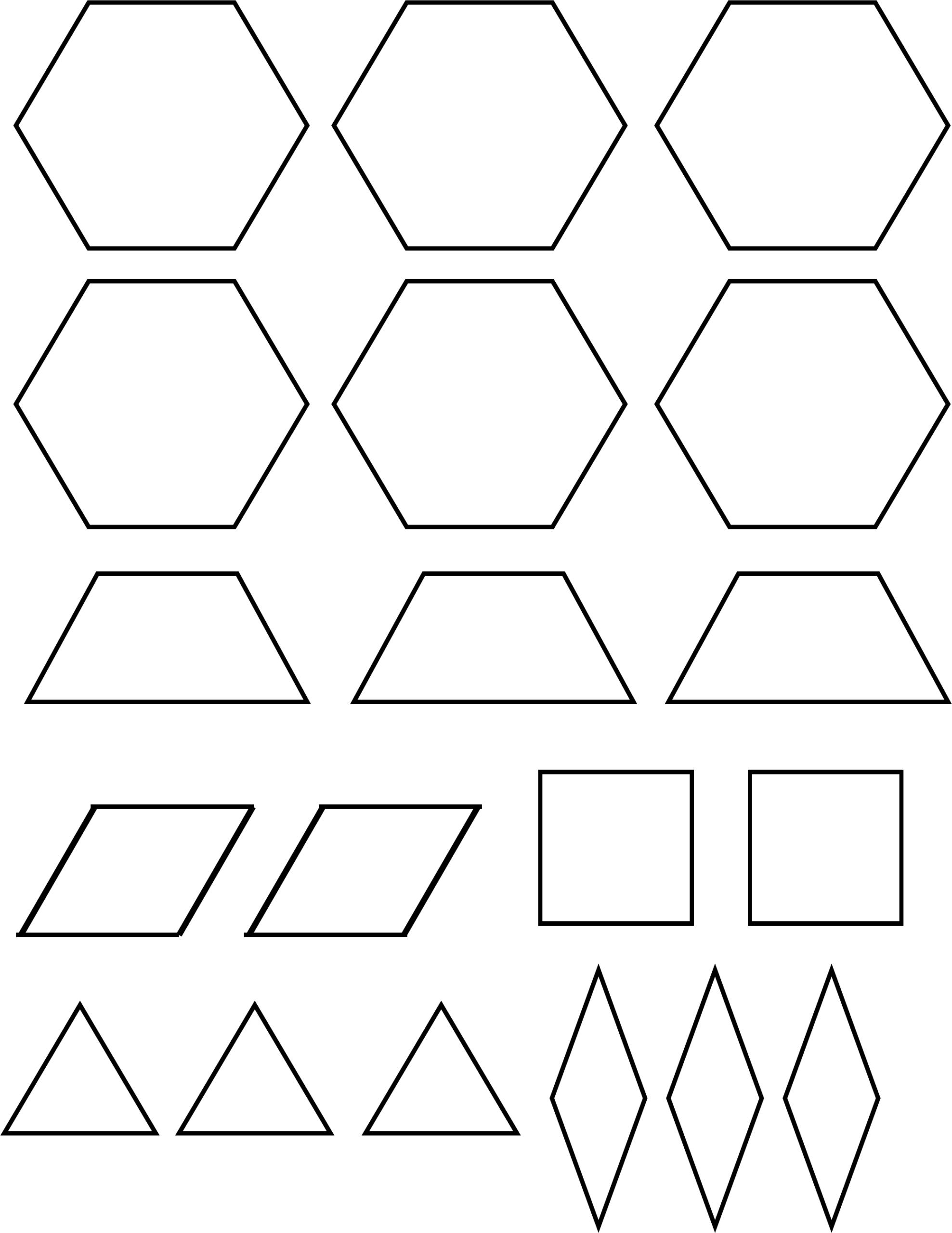 Pattern Block Templates Pdf - Karati.ald2014 With Regard To Blank Pattern Block Templates