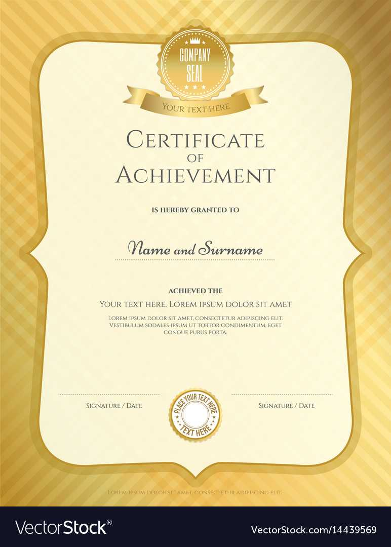 Portrait Certificate Of Achievement Template In Inside Blank Certificate Of Achievement Template