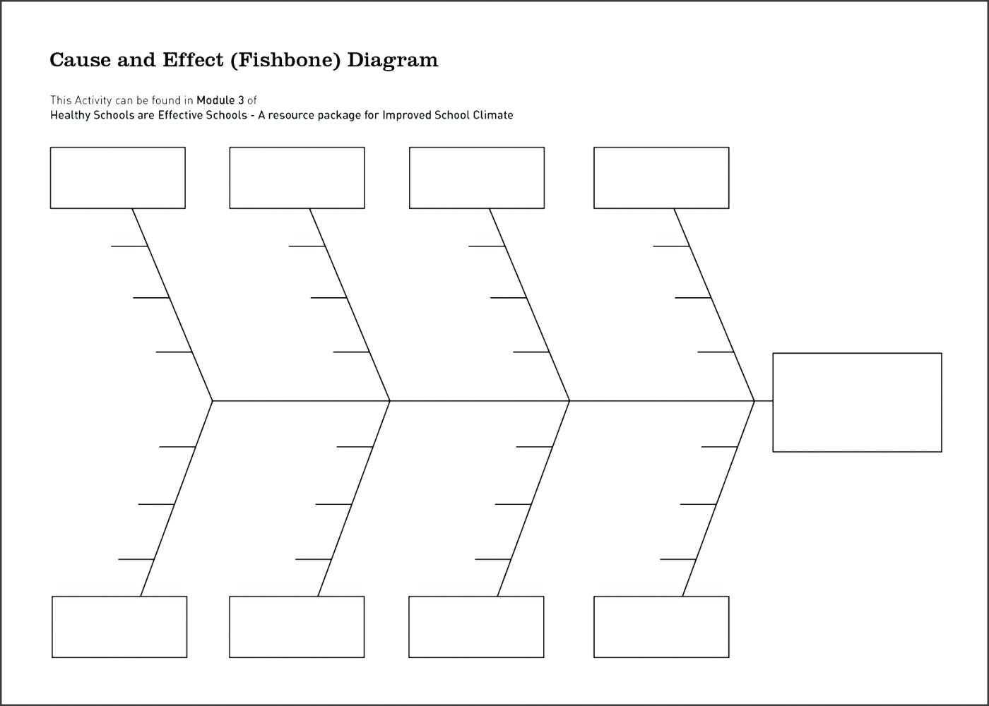 Printable Fishbone Diagram Template - Domaye In Blank Fishbone Diagram Template Word