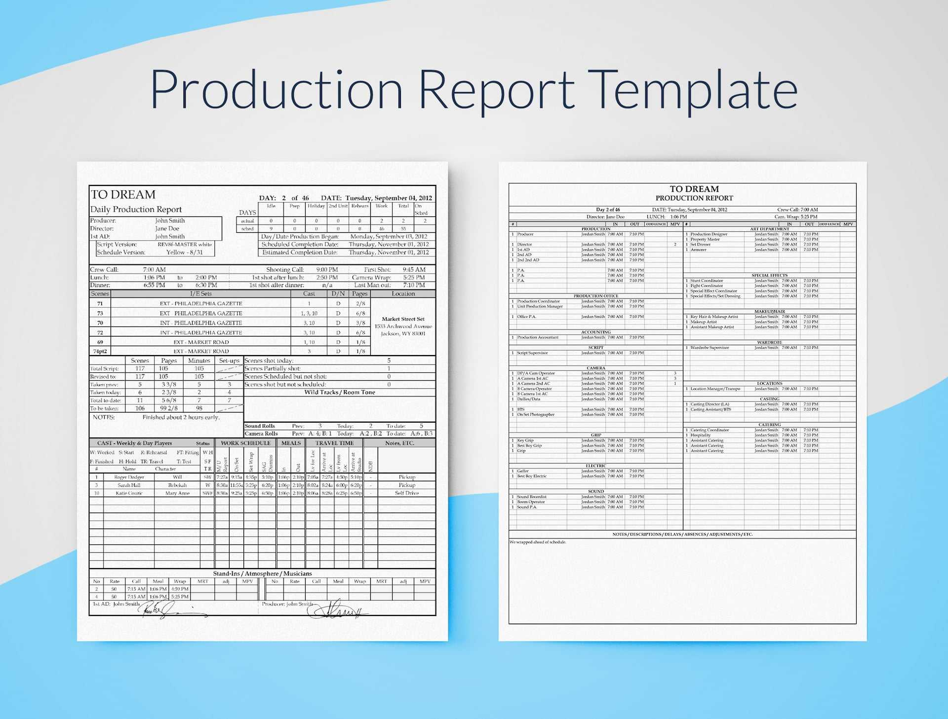 Production Report Template For Excel - Free Download | Sethero In Monthly Productivity Report Template
