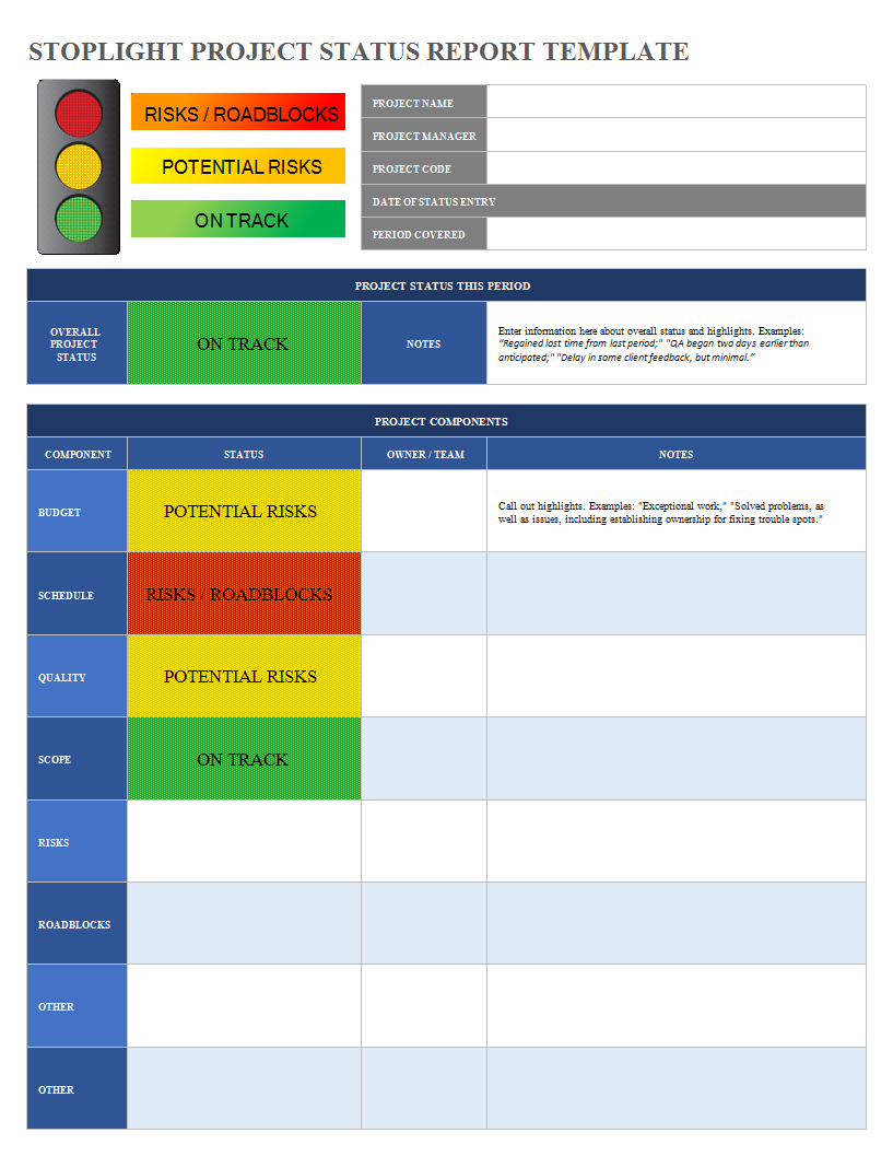 Project Status Report Excel Spreadsheet Sample | Templates At Intended For Check Out Report Template