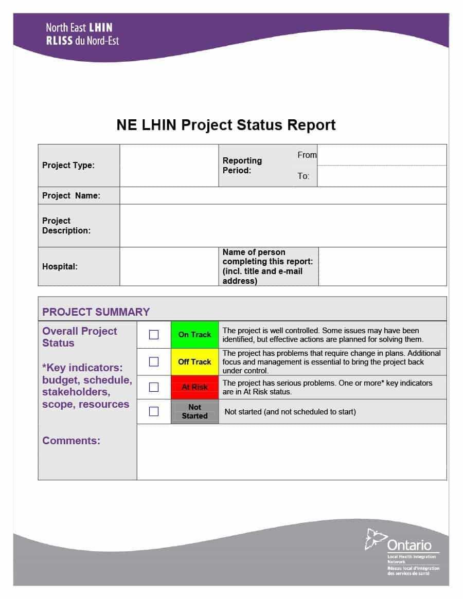 Project Status Report Template Word – Karan.ald2014 In Project Status Report Template Word 2010