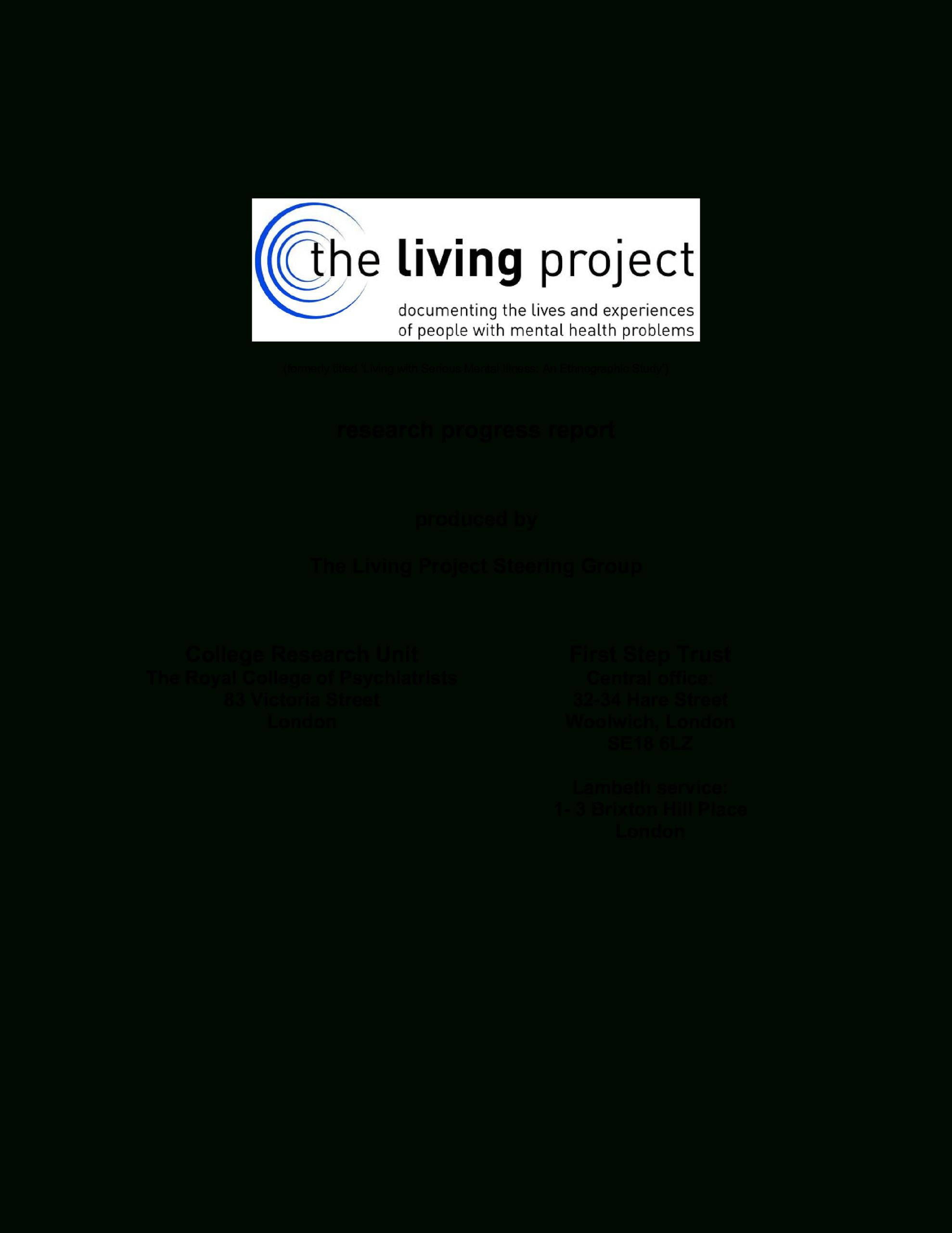Research Progress Report Sample | Templates At Within Research Project Progress Report Template