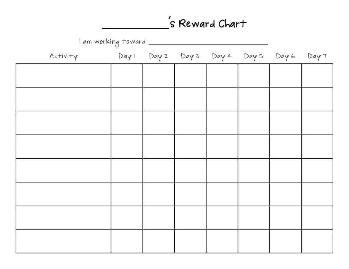 Reward Chart Templates - Word Excel Fomats Within Reward Chart Template Word