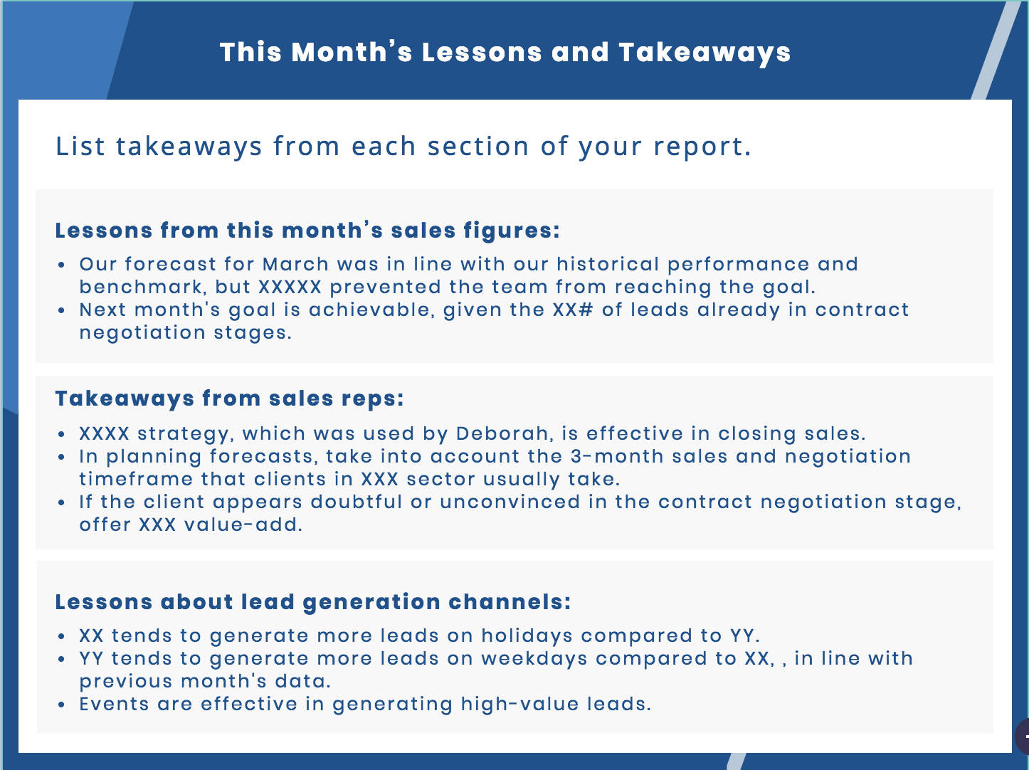 Sales Report Guide To Key Metrics And Data Visualization For Sales Representative Report Template