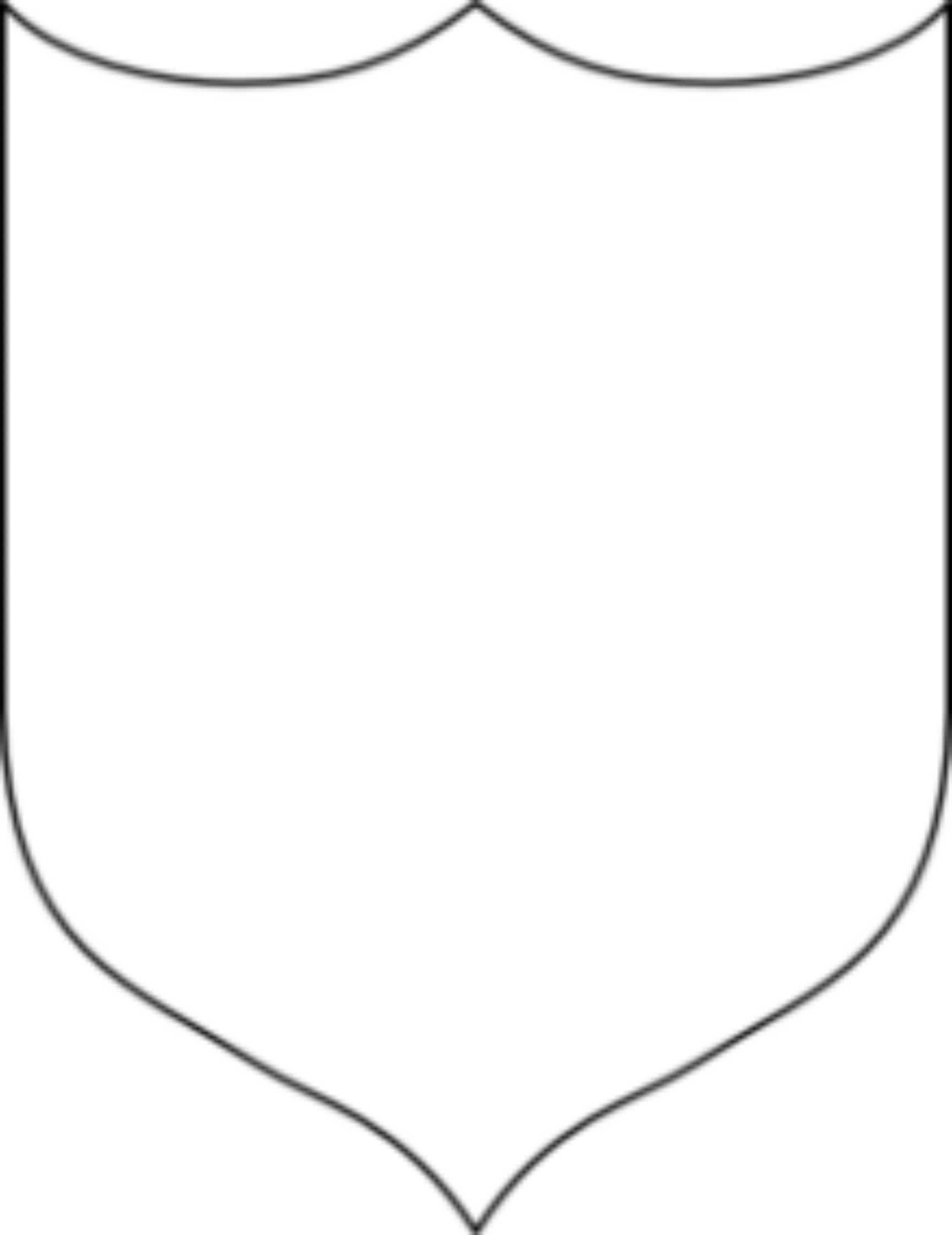 Shield Template Clipart Regarding Blank Shield Template Printable