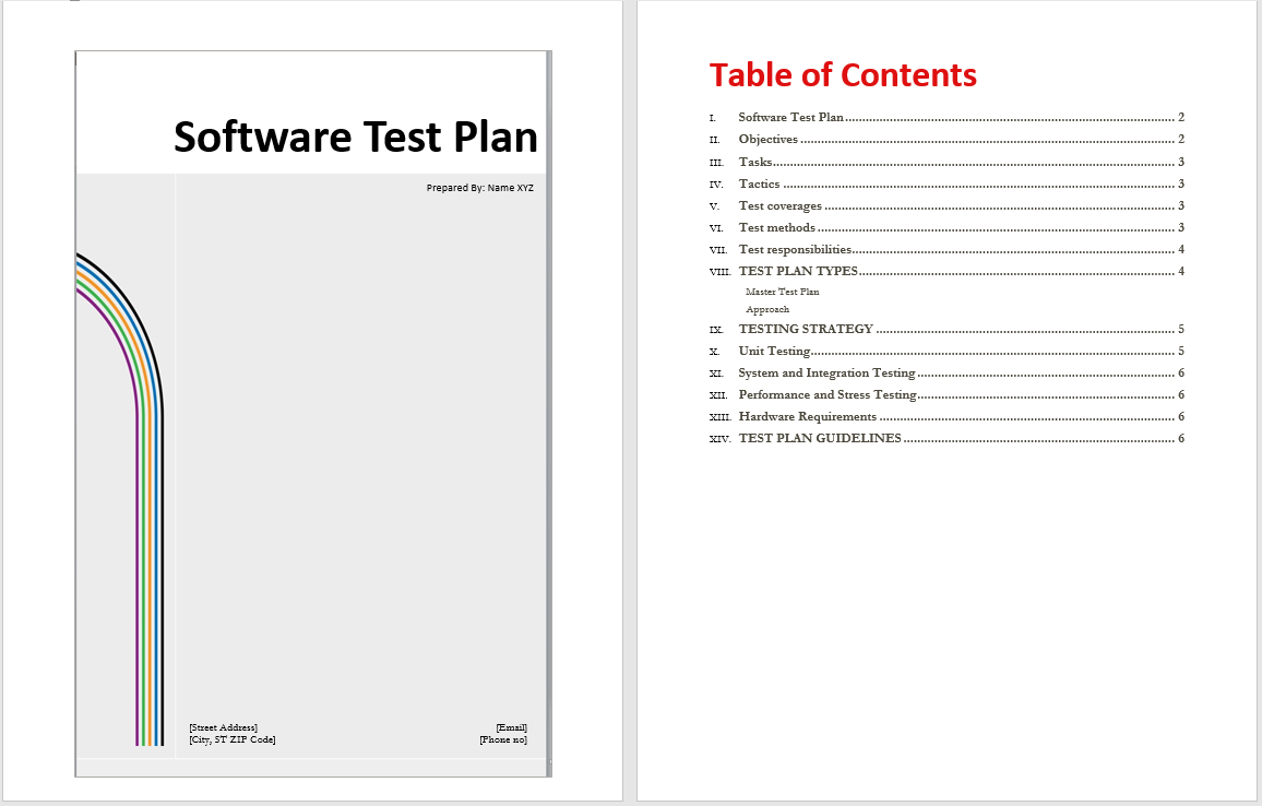Software Test Plan Template - Word Templates With Regard To Software Test Plan Template Word