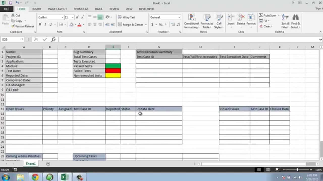 Software Testing Weekly Status Report Template Throughout Software Test Report Template Xls