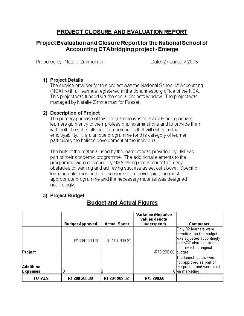 Standard Evaluation Report | Templates At With Regard To Template For Evaluation Report