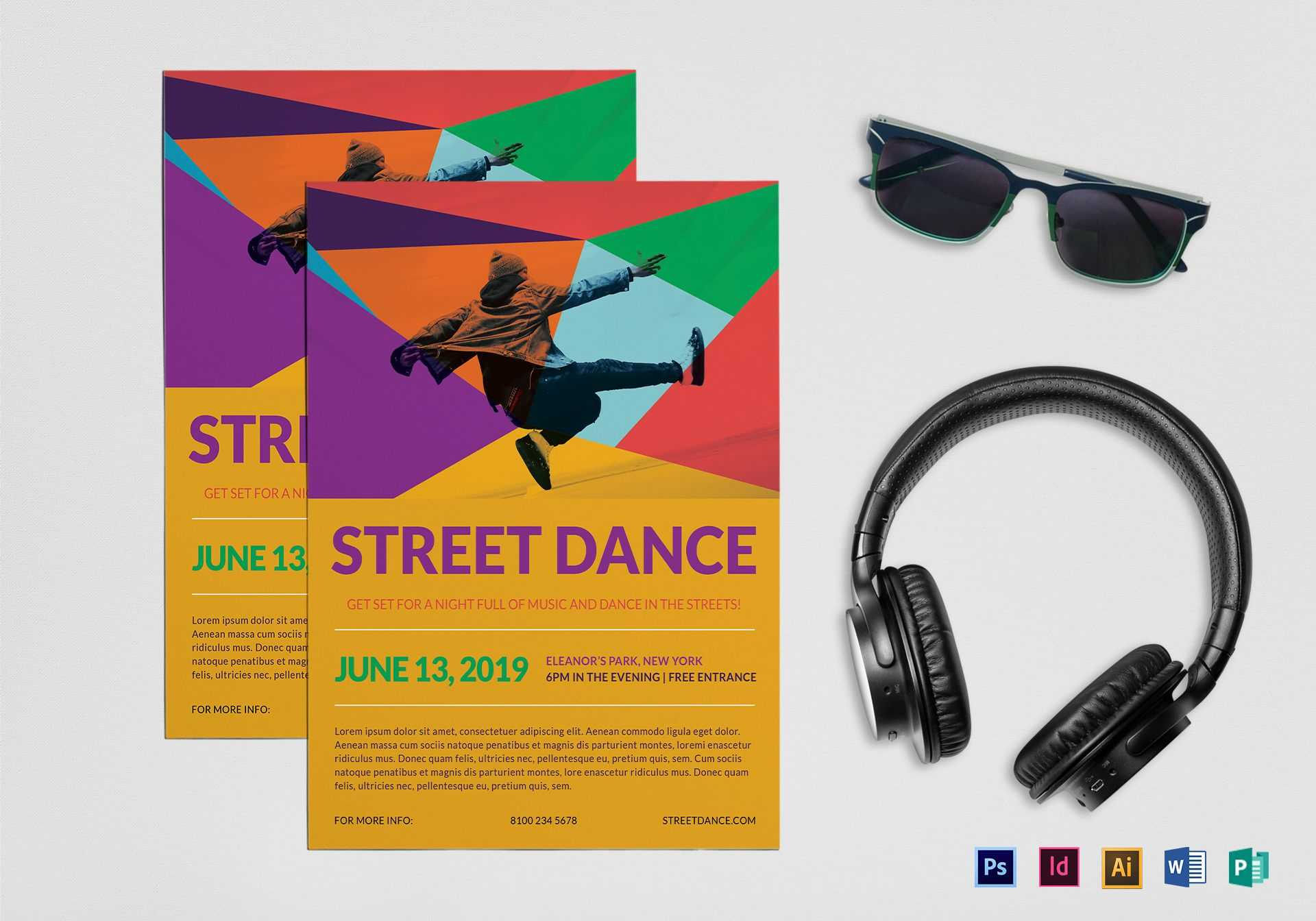 Street Dance Flyer Template Intended For Dance Flyer Template Word