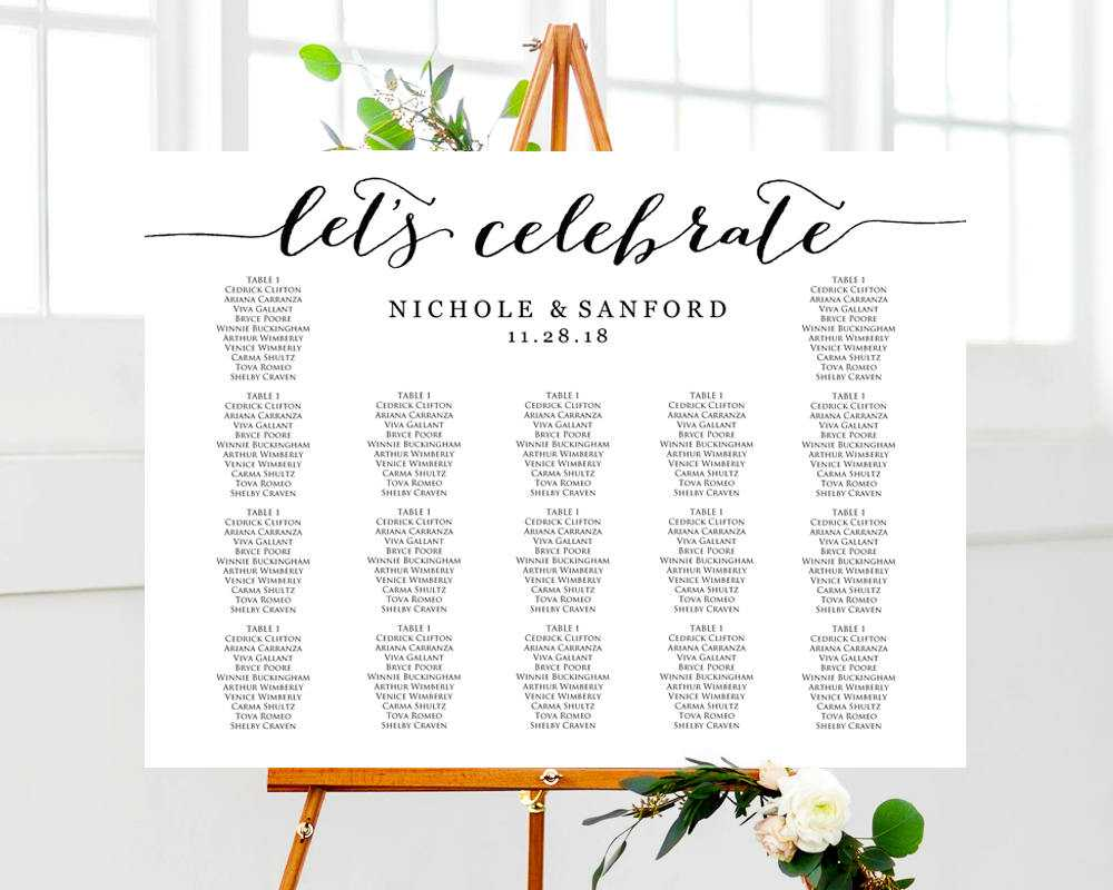 Table Plan Wedding Template – Karati.ald2014 Throughout Wedding Seating Chart Template Word