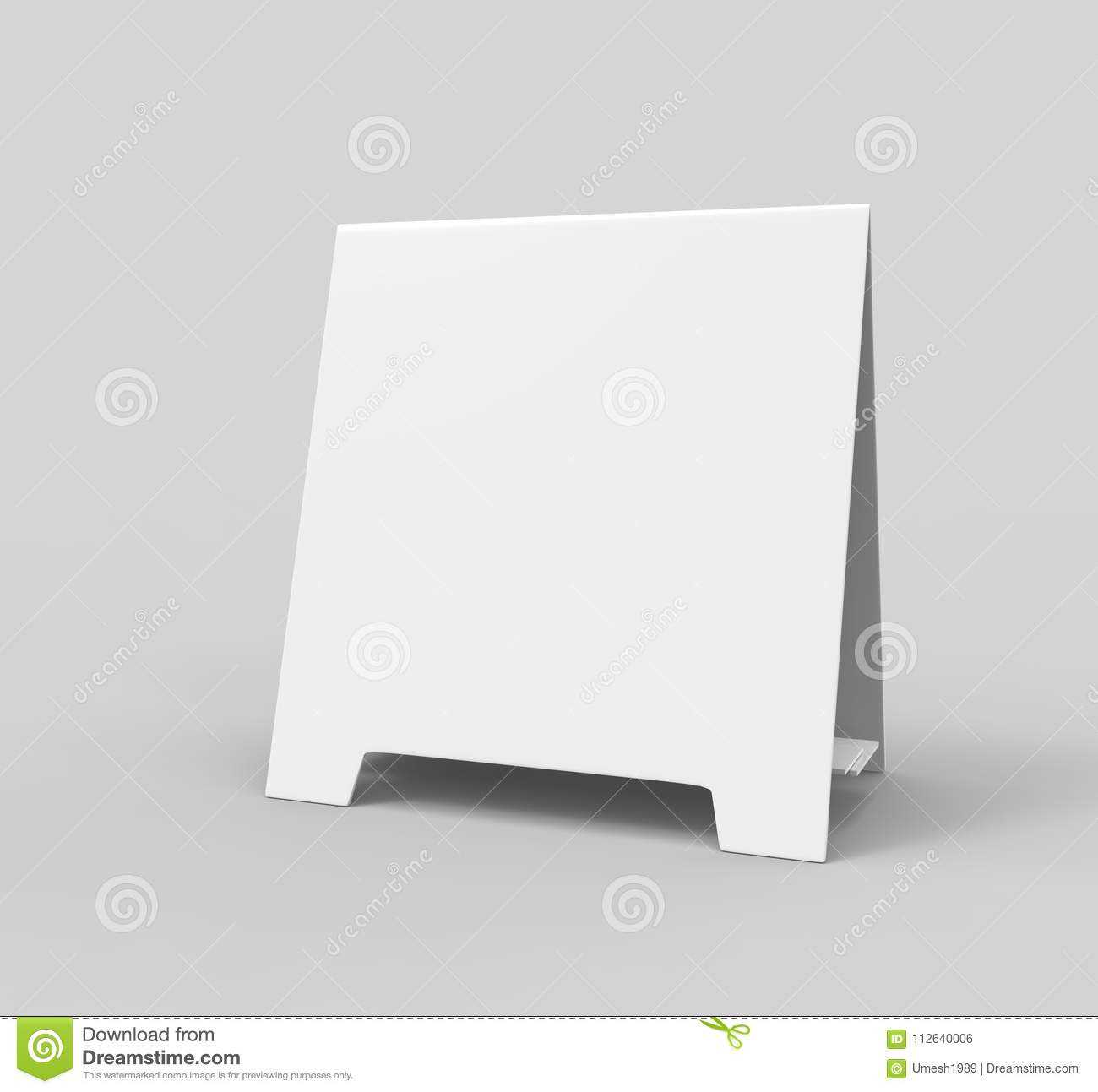 Tablet Tent Card Talkers Promotional Menu Card White Blank Within Blank Tent Card Template