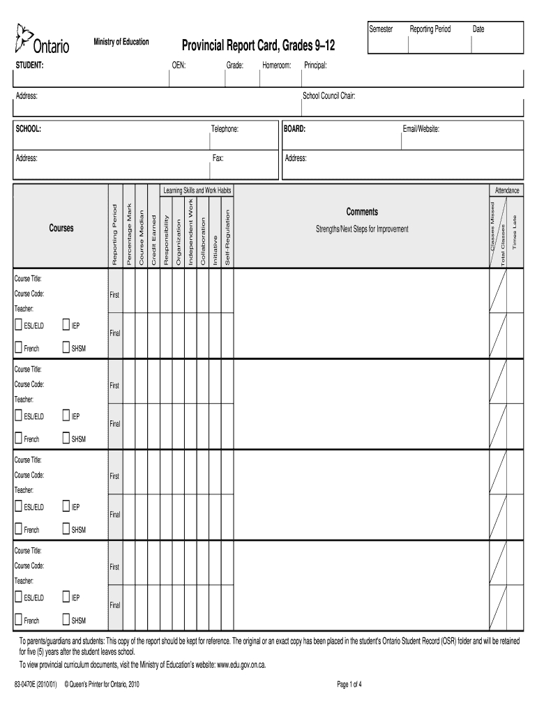 Tdsb Report Card Pdf - Fill Online, Printable, Fillable For Fake Report Card Template