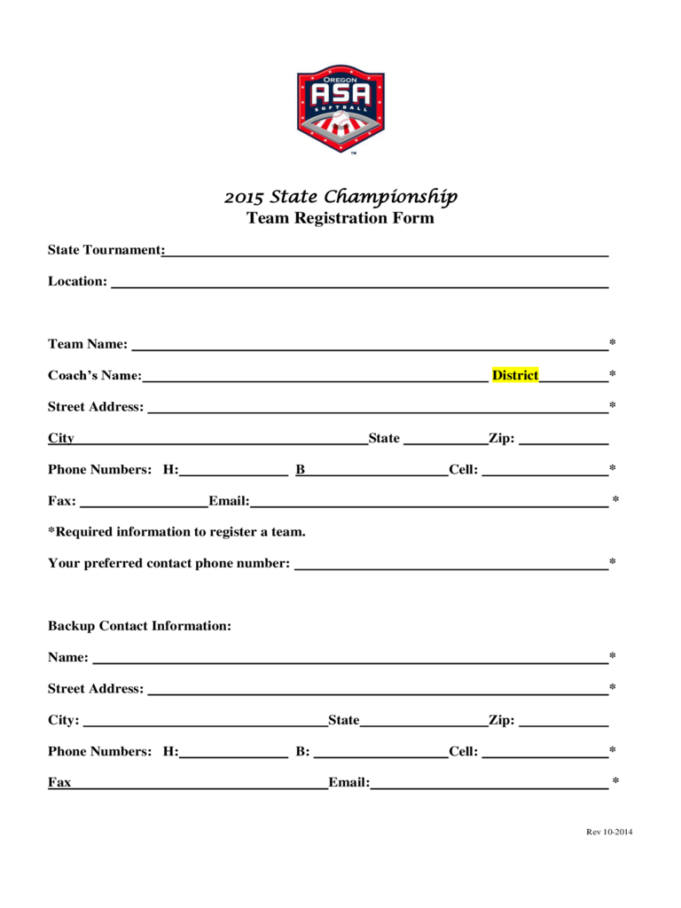 Team Registration Form - 2 Free Templates In Pdf, Word For Registration Form Template Word Free