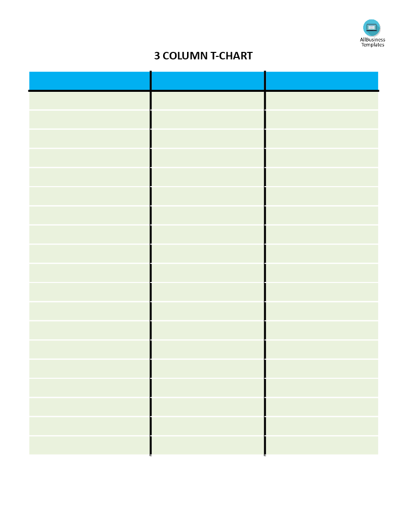 Télécharger Gratuit T Chart With 3 Columns Regarding 3 Column Word Template
