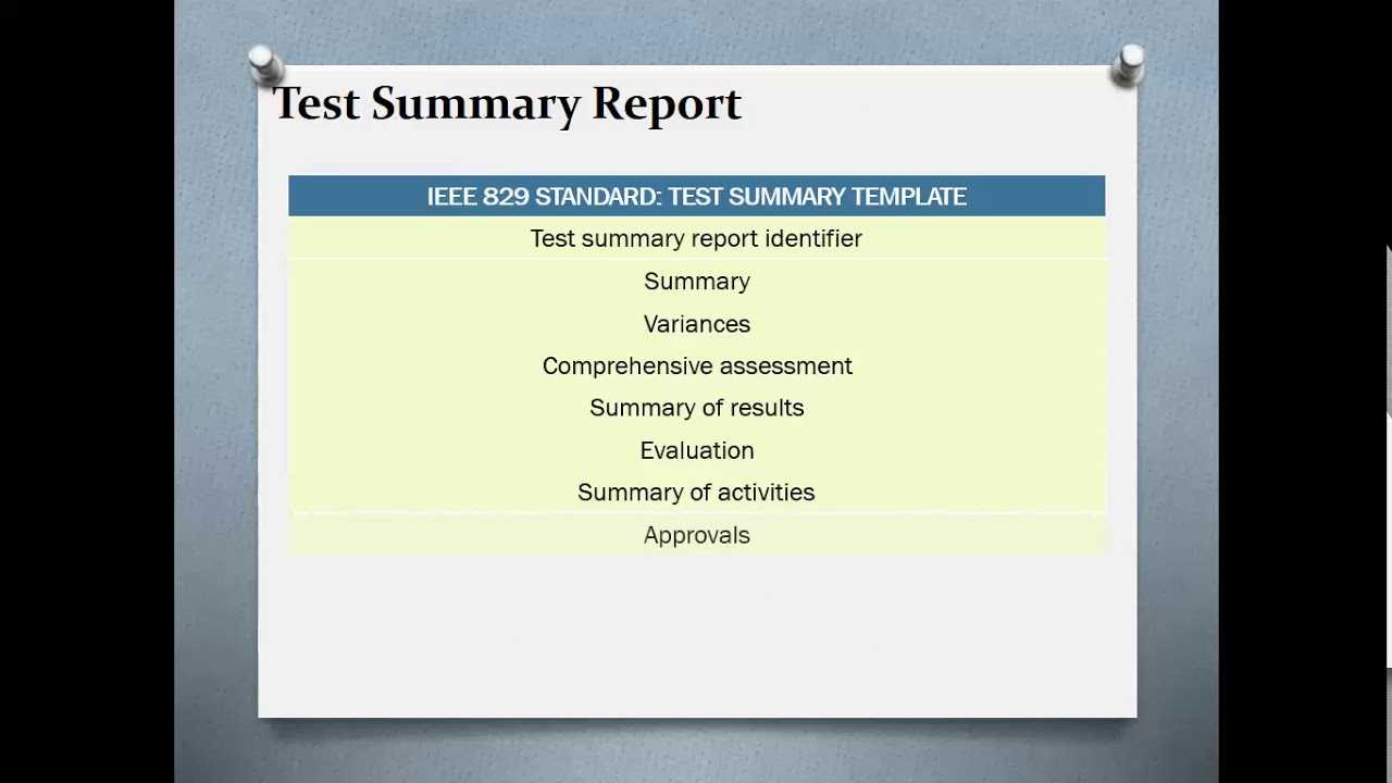 Test Summary Reports | Qa Platforms Pertaining To Test Result Report Template