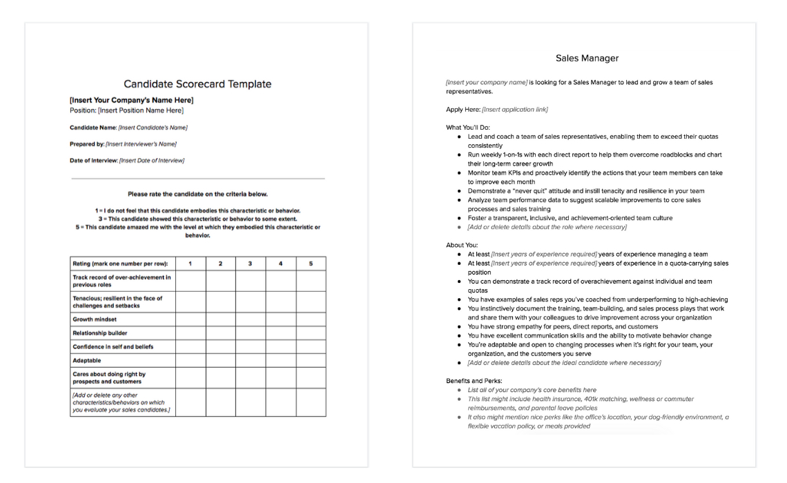 The Sales Manager Job Description To Attract Right Candidate Regarding Sales Representative Report Template