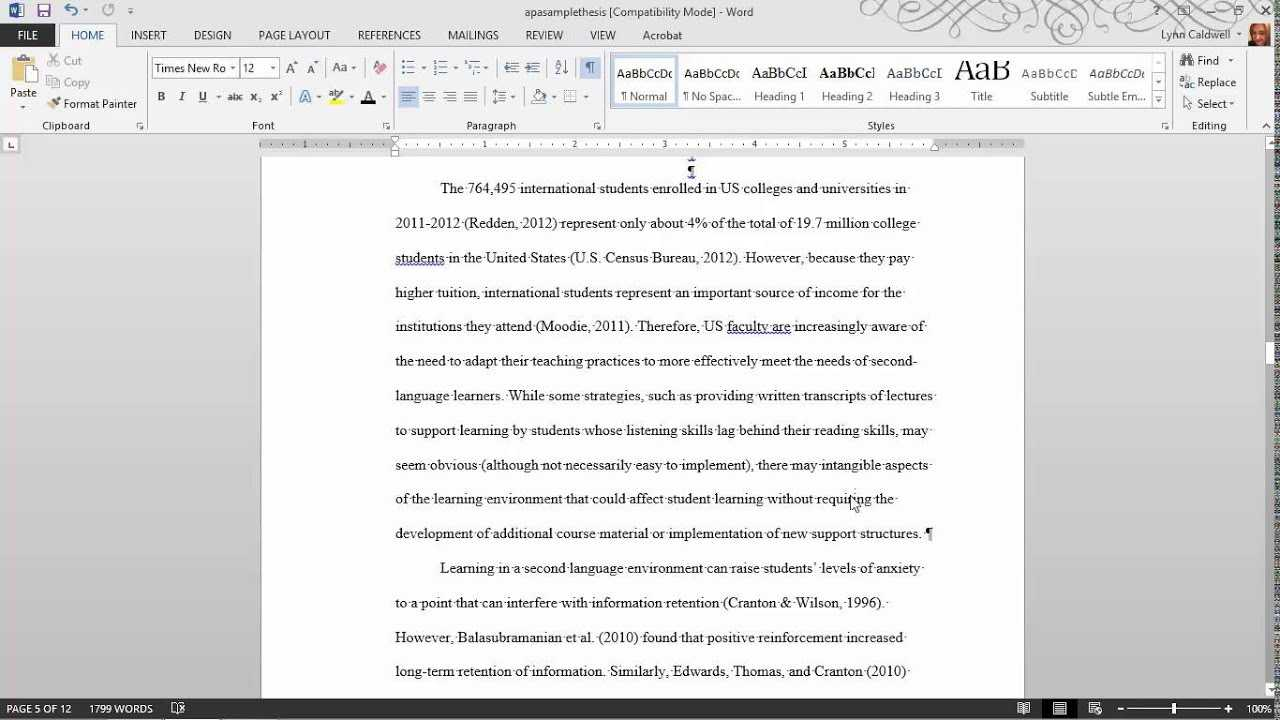 Thesis Formatting: Ms Word Tips In Ms Word Thesis Template