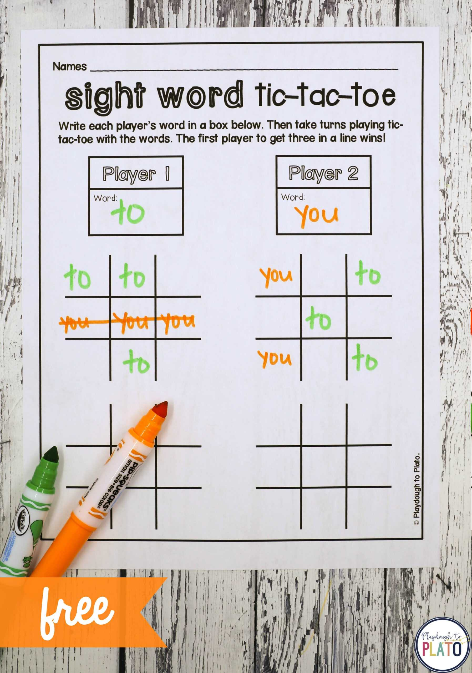 Tic Tac Toe - Playdough To Plato With Tic Tac Toe Template Word