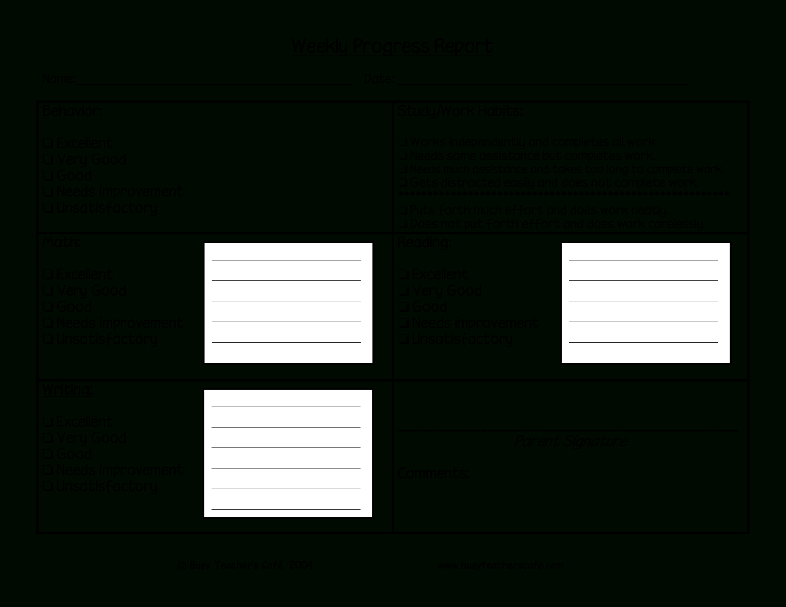 Weekly Student Behavior Report | Templates At Throughout Behaviour Report Template