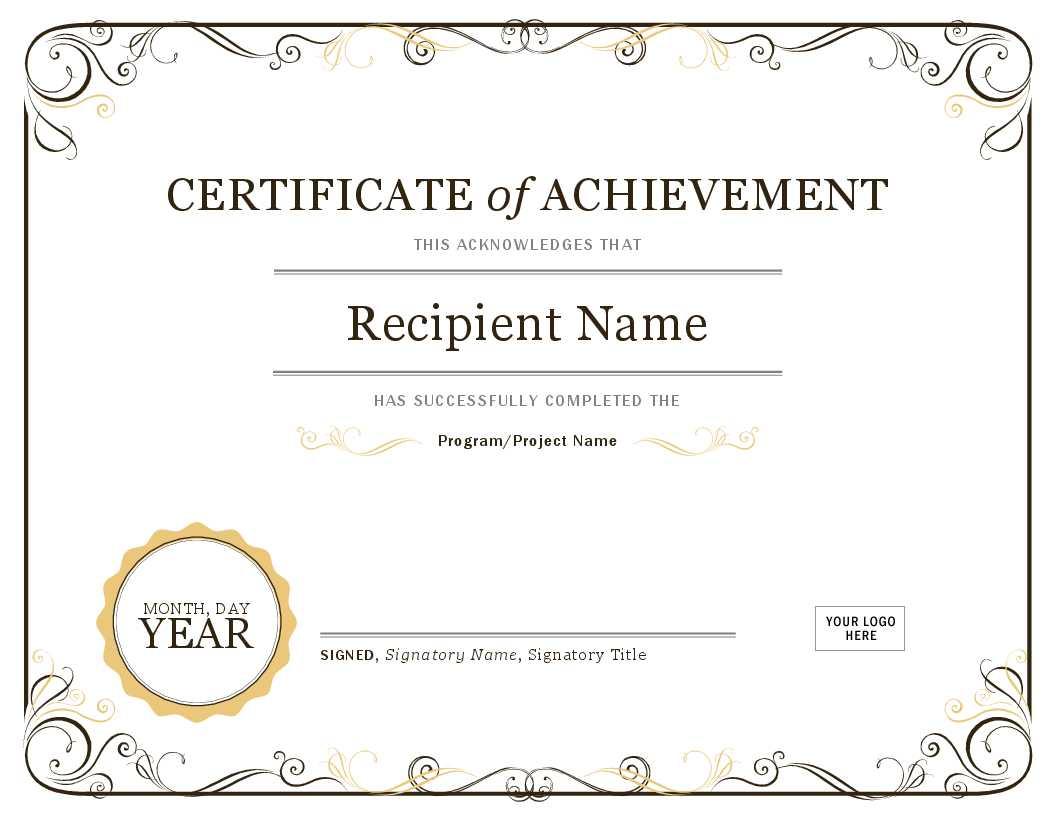 Word Diploma Template - Karan.ald2014 Throughout Graduation Certificate Template Word