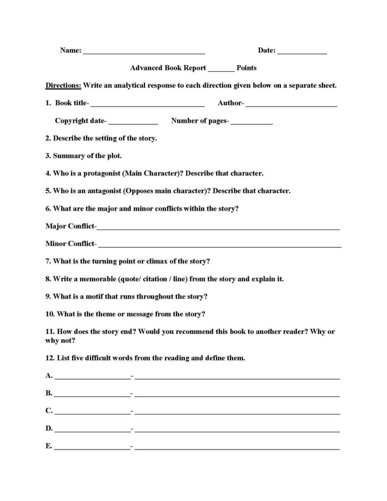 Worksheet 4Th Grade Report | Printable Worksheets And Within 4Th Grade Book Report Template
