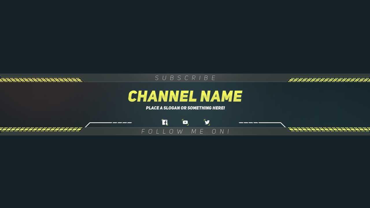 Yt Banner Template – Karati.ald2014 Pertaining To Youtube Banner Template Gimp